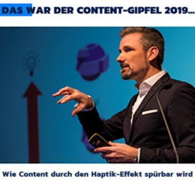 Olaf Hartmann spricht auf ContentGipfel