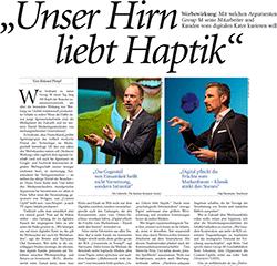 """Unser Hirn liebt Haptik"" ©horizont"
