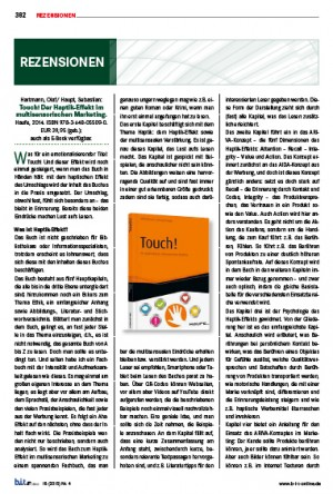 Touch! Rezension von Prof. Dr. Ursula Georgy