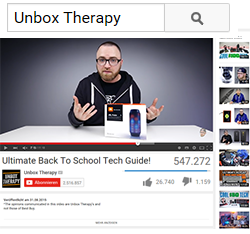 Unboxing meets Visual Depiction Effect ©Unbox Therapy