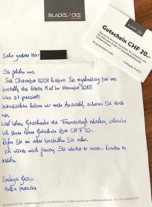 Handgeschriebenes Mailing ©persoenlich.com